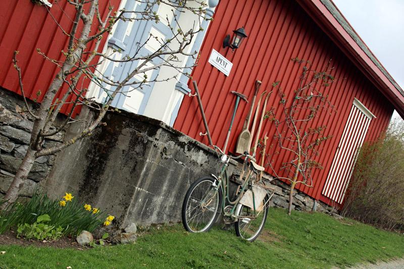 Goldener Umweg an der Gangstad Gårdsysteri in Norwegen