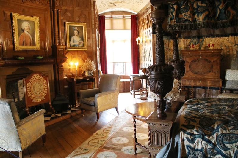 In diesem Zimmer in Powis Castle hat einst Prinz Charles geschlafen