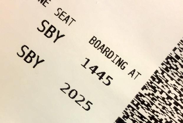 Leider keine Platznummer auf der Bordkarte