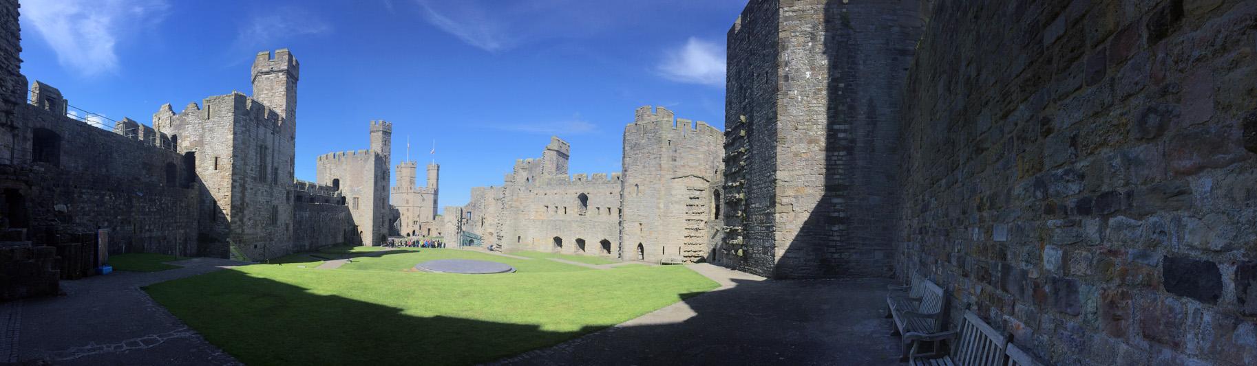 Caernarfon Castle schindet Eindruck