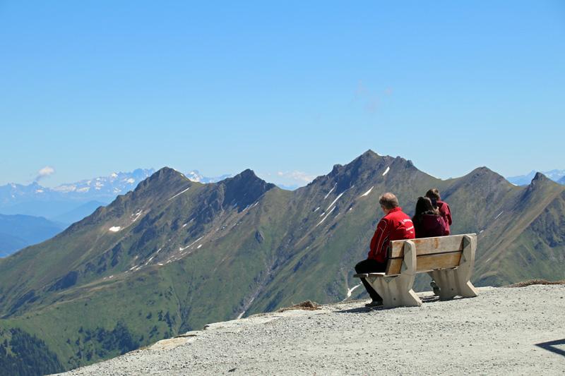 Schon beim ersten Zwischenstopp ist die Aussicht vom Kitzsteinhorn unbeschreiblich