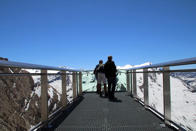 Die Lage der Aussichtsplattform am Kitzsteinhorn mit Blick auf den Großglockner ist einmalig