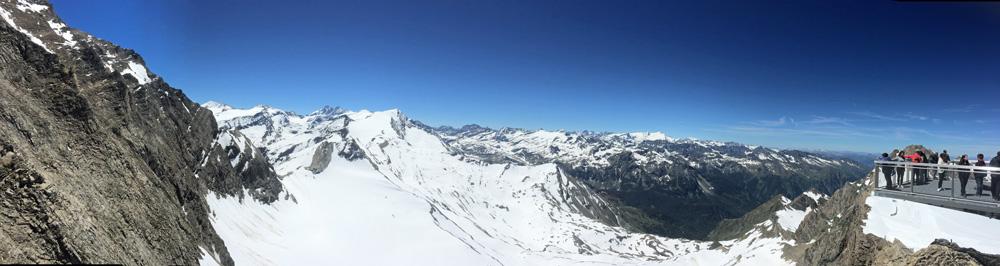 Traumhafter Panoramablick in Richtung Großglockner