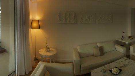 Besonders großzügig war das Platzangebot im Wohnbereich der Suite des Grecian Park Hotel auf Zypern bei Agia Napa