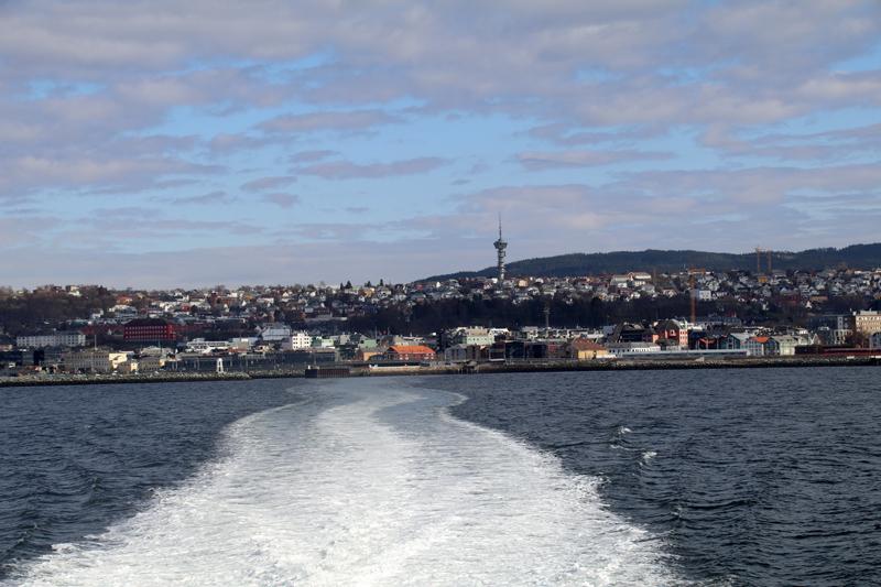 Blick zurück nach Trondheim