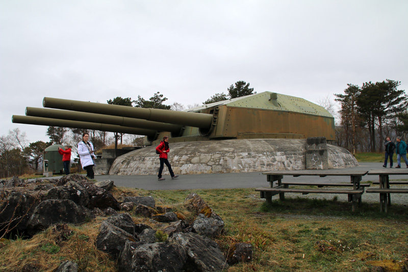 Imposant präsentiert sich das Schlachtschiff-Geschütz