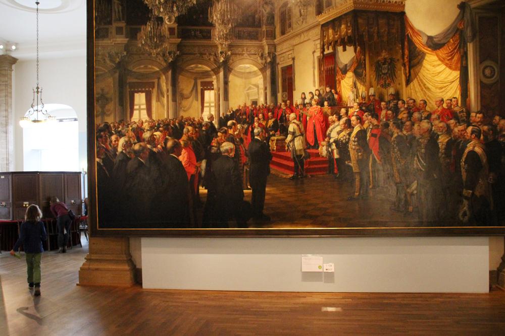 Gemälde mit Bismarck im Stadtschloss im Deutschen Historischen Museum in Berlin