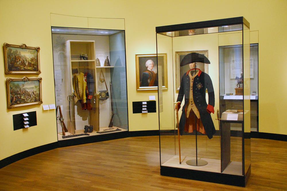 Preußische Uniform von Friedrich II. im Deutschen Historischen Museum in Berlin