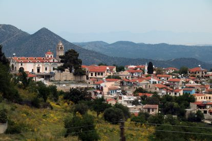 Das Dorf Lefkara im Troodos-Gebirge auf Zypern