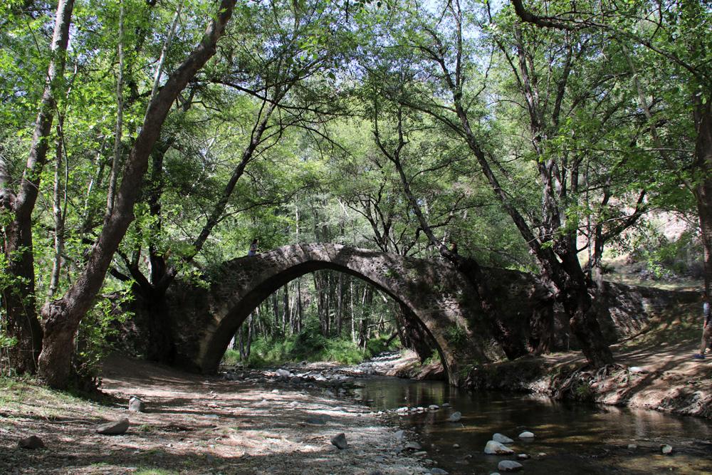 Tzelefos Bridge in Arminou auf Zypern