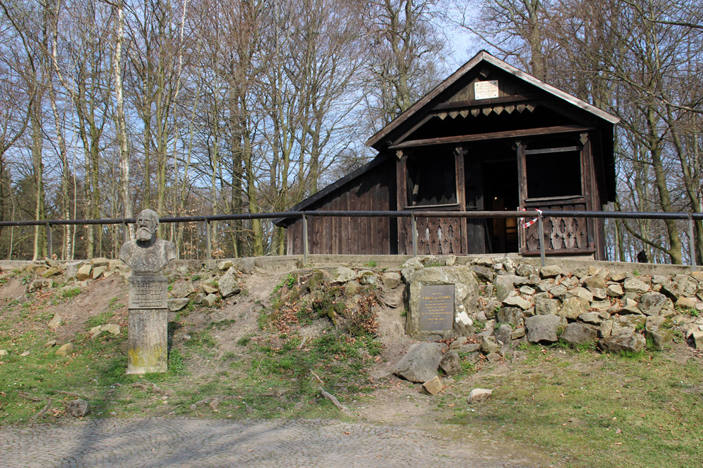 Die Hütte des Hermannsdenkmal-Erbauers Ernst von Bandel