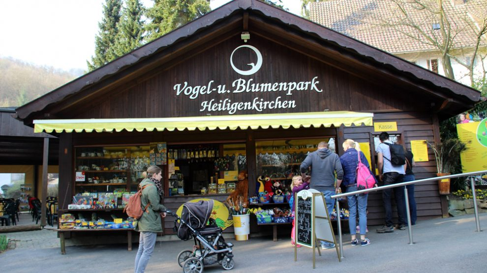Der Eingang zum Vogelpark Heiligenkirchen
