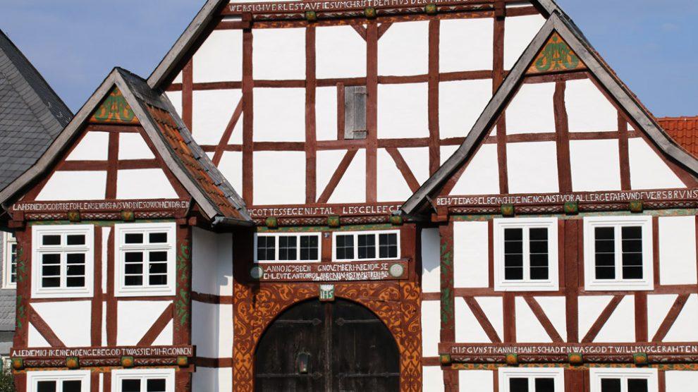 Alle Häuser im Freilichtmuseum Detmold standen ursprünglich woanders