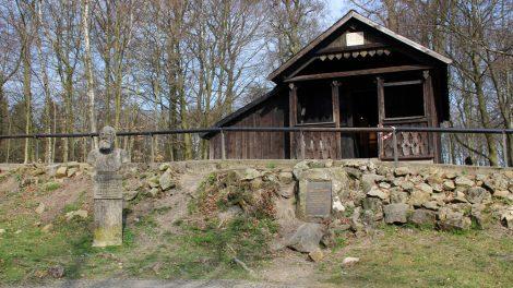 Die Hütte, in der Ernst von Bandel, der Erbauer des Herrmansdenkmals wohnte