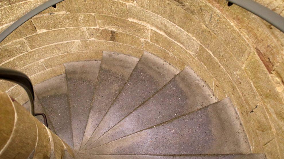 Auf den Sockel des Hermannsdenkmals Detmold führt diese Treppe