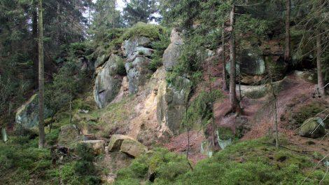 Bizarre Felsformationen in der Nähe des Velmerstot