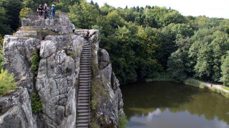 Die Treppen gehen zum Teil steil nach oben