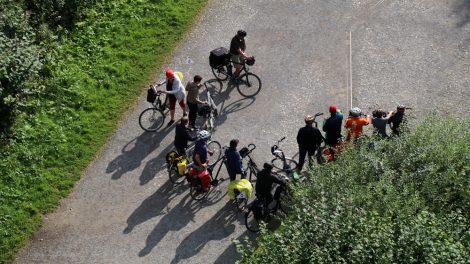 Viele Fahrradfahrer sind rund um die Externsteine unterwegs