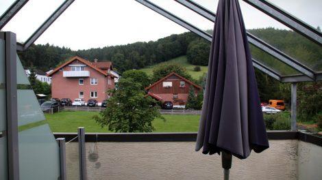 """""""Mein"""" Zimmer im Landhotel Haus Weber hatte eine große Terrasse"""