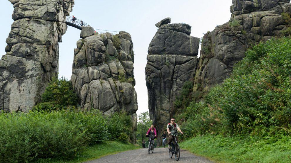 Ich bin an den Externsteinen auch mit einem Fahrrad unterwegs gewesen.