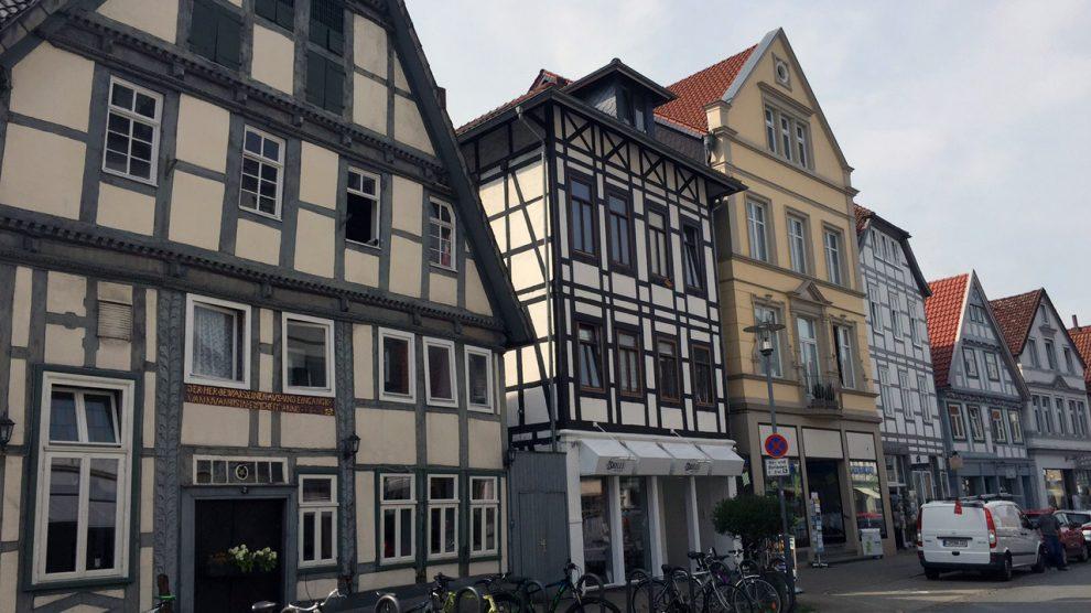 Fachwerkhäuser prägen das Stadtbild von Detmold