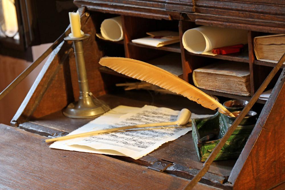 So könnte Bachs Platz zum Komponieren ausgesehen haben