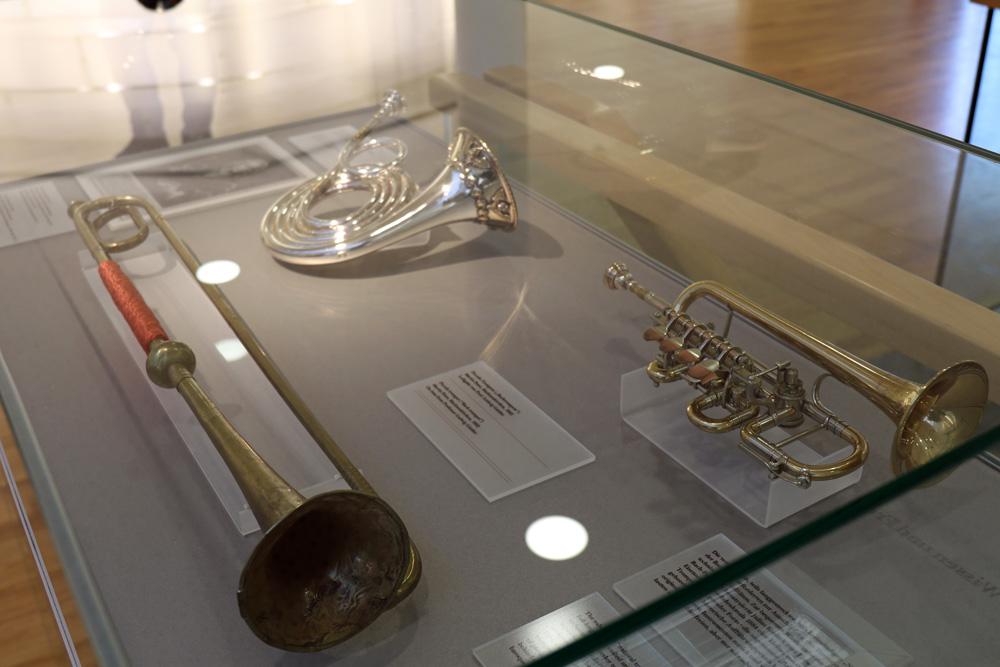 Im Bachhaus in Eisenach werden verschiedene Instrumente aus der Zeit Bachs gezeigt