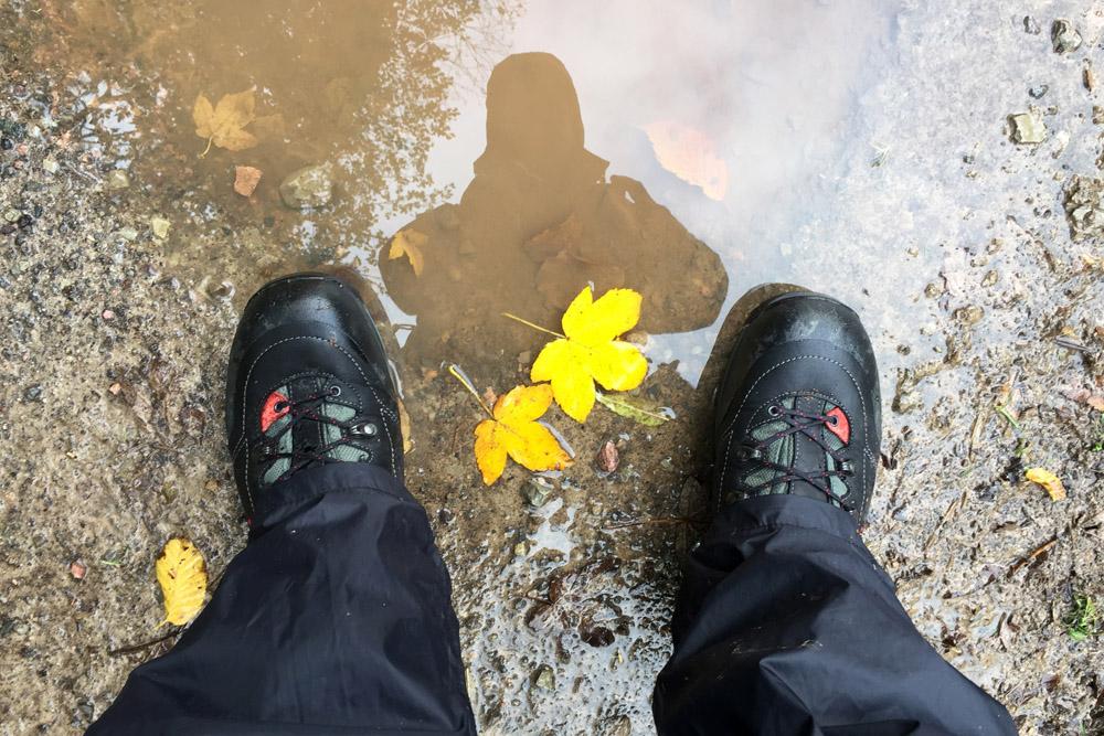 Selbst schlechtes Wetter beim Wandern auf dem Lutherweg kann im Herbst die Laune nicht verderben