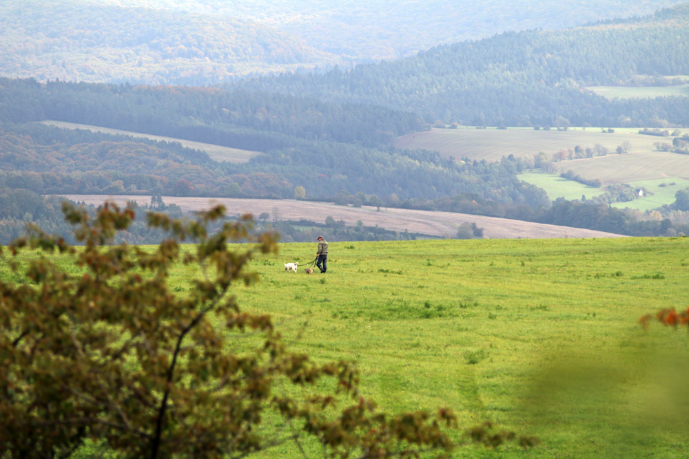 Oft ergeben sich am Lutherweg weite Blicke in die Landschaft