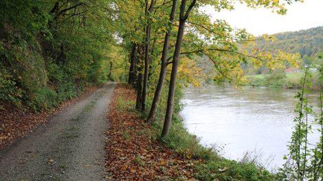 Der Lutherweg an der Werra bei Frankenroda