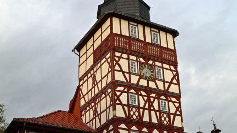Das Rathaus in Treffurt ist ein wunderschönes Fachwerkhaus