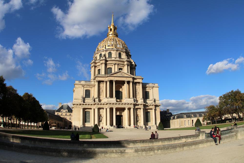 Der Invalidendom in Paris ist ein Ziel, das auch bei schlechtem Wetter angesteuert werden kann