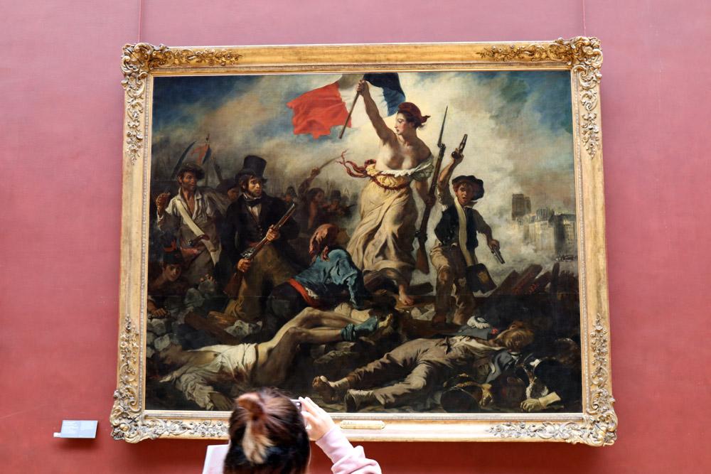 Eugène Delacroix Die Freiheit für das Volk im Louvre Museum Paris