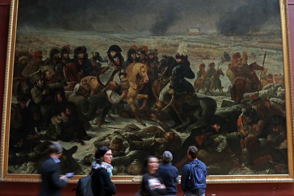 Napoleon auf dem Schlachtfeld von Preußisch-Eylau von Antoine-Jean Gros im Museum des Louvre in Paris