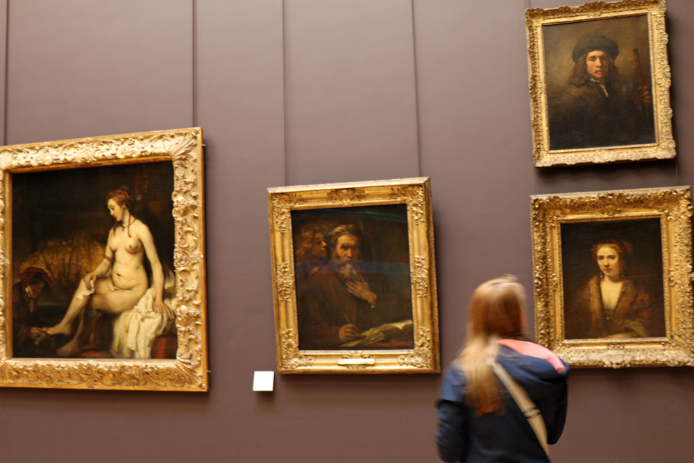 Rembrandt Bathseba im Louvre Paris
