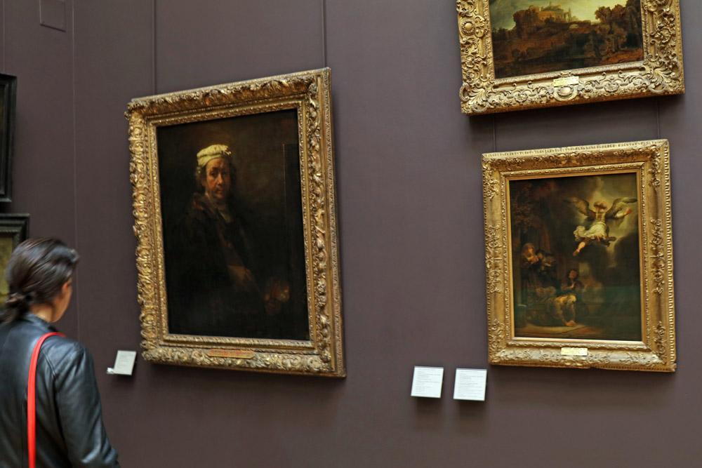 Im Louvre in Paris hängt ein Selbstportrait von Rembrandt