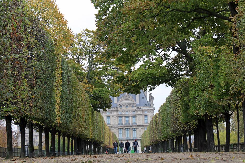 Wenn das Laub zu fallen beginnt, ist es im Jardin des Tuileries besonders schön