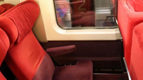 Die Sitze im Thalys sind sehr bequem