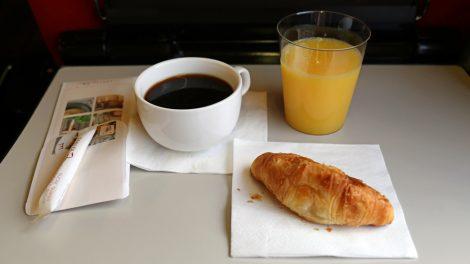 Ein Croissant reicht auch mal für ein Frühstück