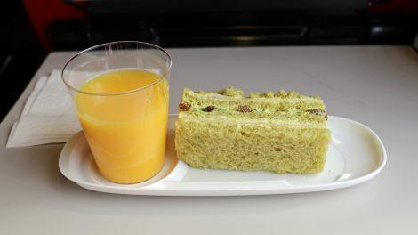 Es gab auch ein kleines Sandwich zu essen im Thalys
