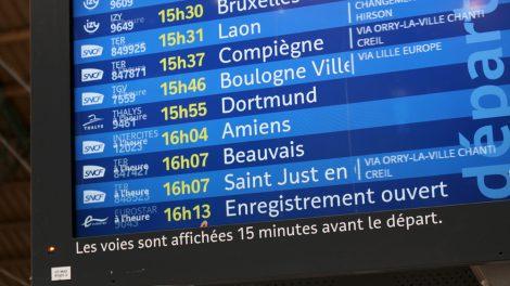 Auf der Abfahrtstafel in Paris steht als Ziel auch Dortmund