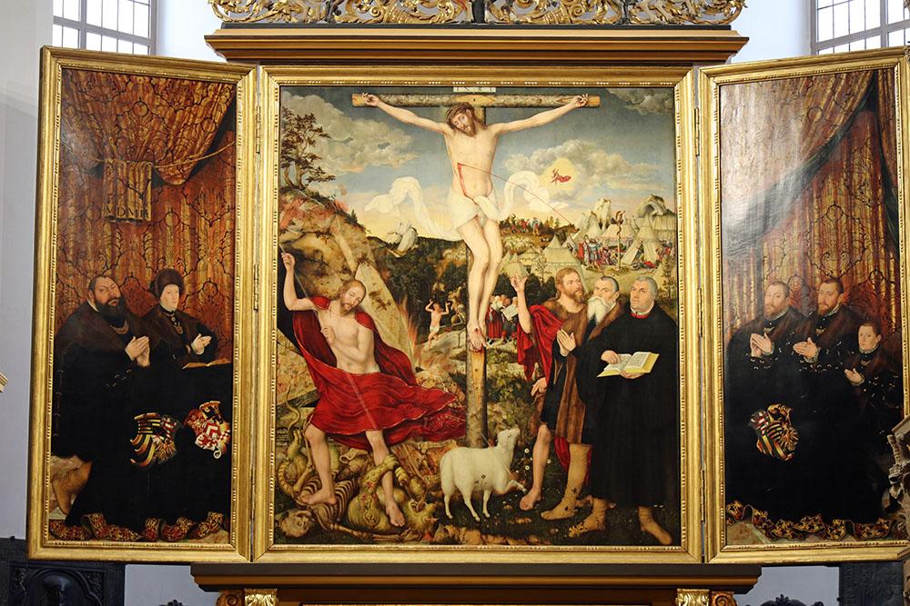Altarbild von Cranach in der Herderkirche in Weimar
