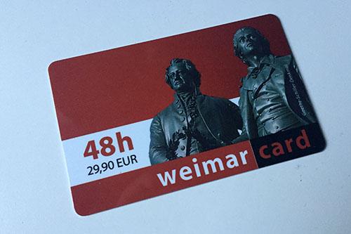 Weimar Card aus Thüringen