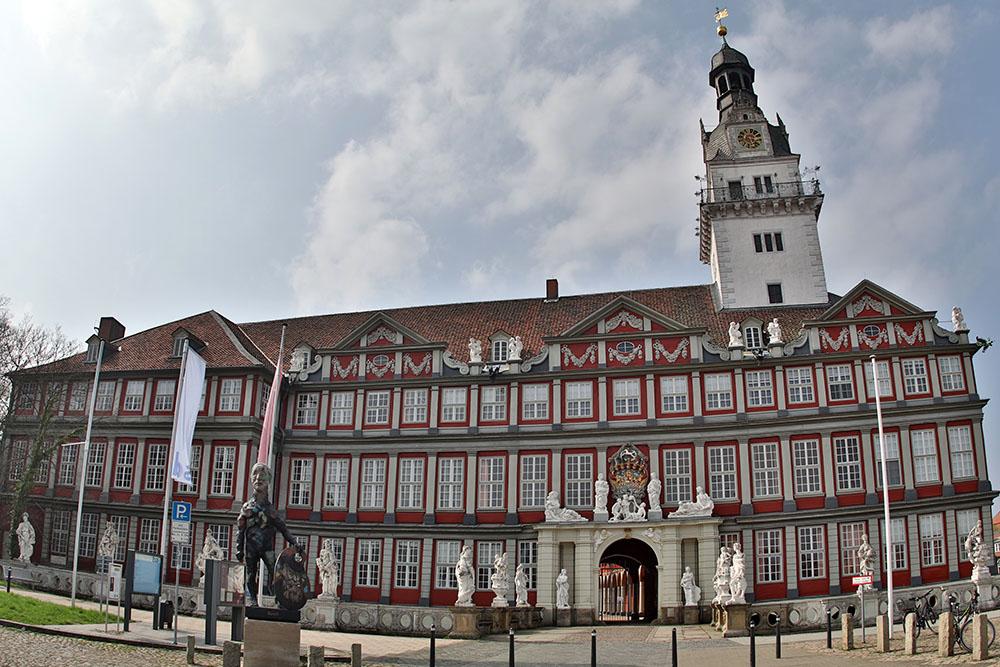 Schloss Wolfenbüttel. Hier wohnte einst Lessing und Daniel Brühl hat dort im Film Der ganz großer Traum gespielt