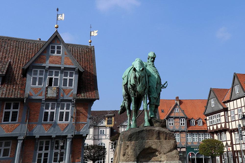 Im Krieg wurde die Stadt Wolfenbüttel kaum zerstört. Geblieben ist ein fast vollständig erhaltenes historisches Stadtbild