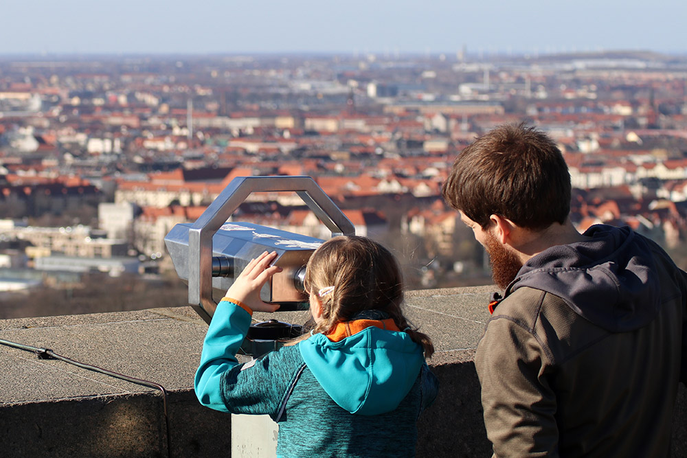 Aussicht vom Völkerschlachtdenkmal Leipzig