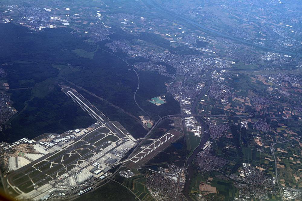 Flughafen Airport Frankfurt Luftaufnahme