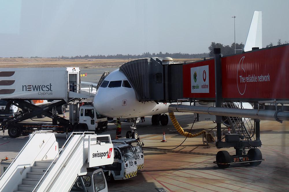 Airbus A320 der Cobalt Airline auf dem Flughafen Larnaka