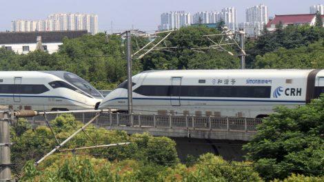 CRH Hochgeschwindigkeitszug auf der Strecke Shanghai Peking in China