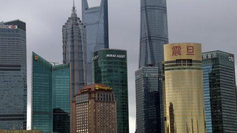 Hochhäuser der Skyline von Shanghai in China